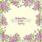 장미와 나비 프레임