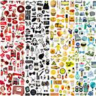 데코스티커 색상별 모음