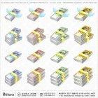 PSD 한국지폐 아이콘 16종