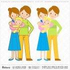 아기를 안고있는 부부