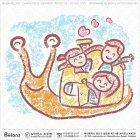 가족 캐릭터와 달팽이 집