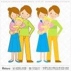 신혼부부와 신생아 캐릭터