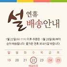 설 연휴 배송 팝업 10