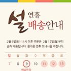 설 연휴 배송 팝업 12