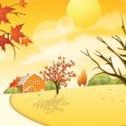 가을 배경이미지 1