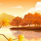 가을 배경이미지 3